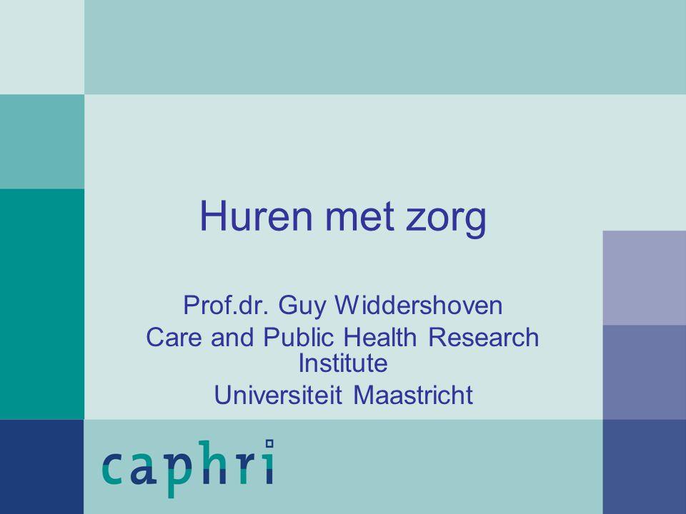 Huren met zorg Prof.dr. Guy Widdershoven