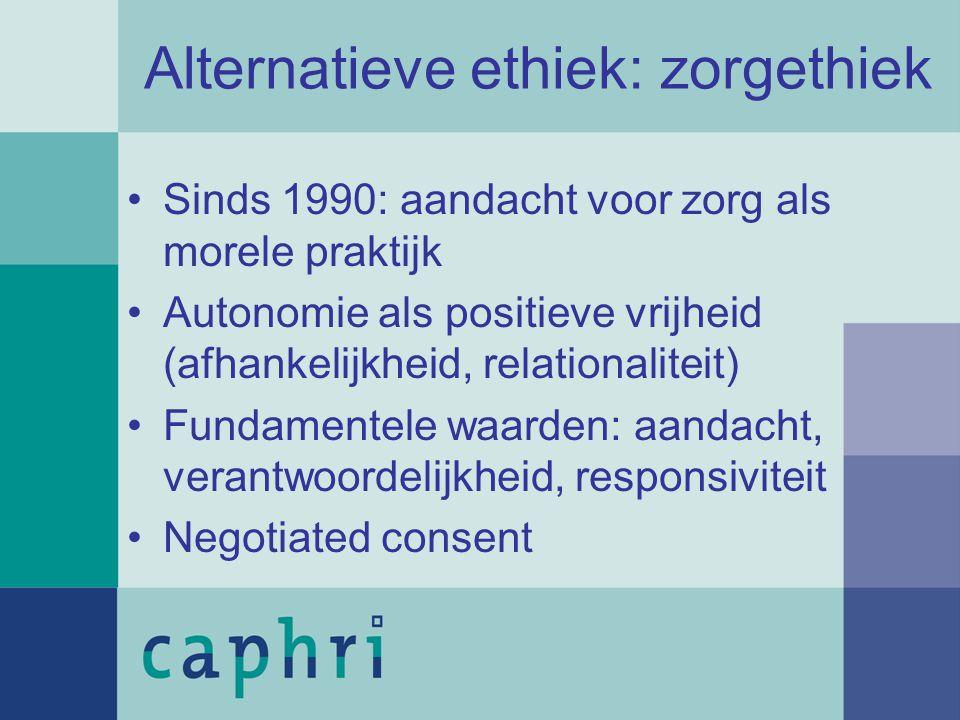 Alternatieve ethiek: zorgethiek