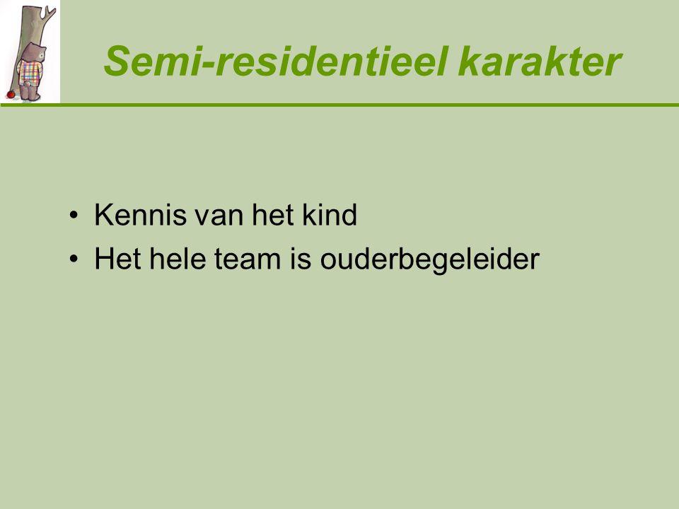 Semi-residentieel karakter