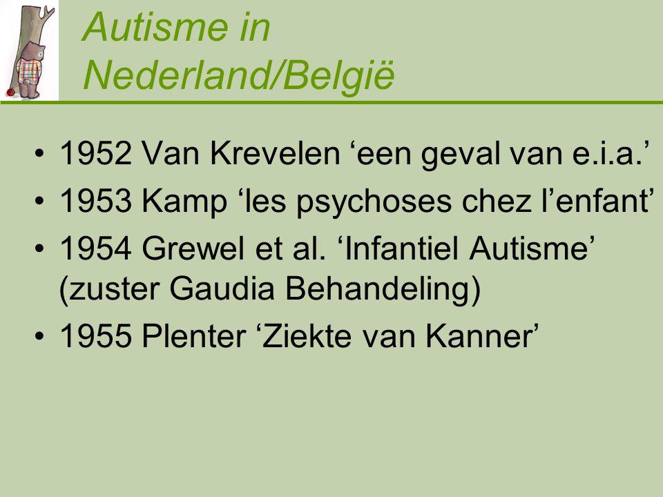 Autisme in Nederland/België