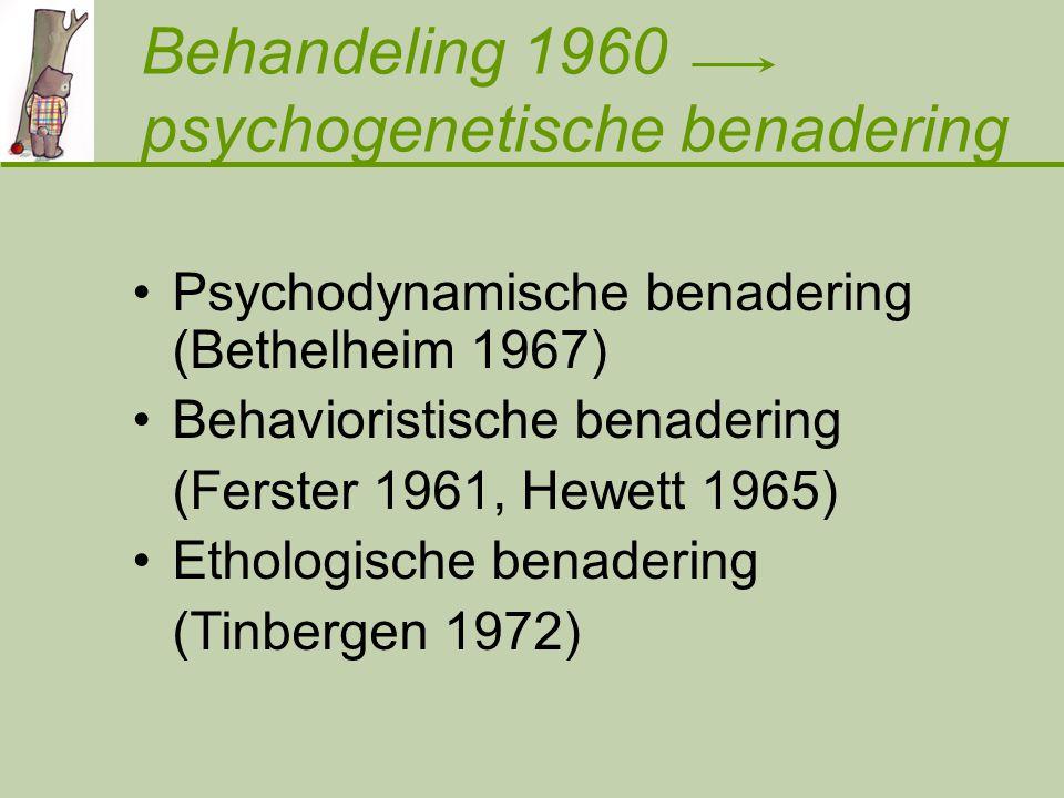 Behandeling 1960 psychogenetische benadering
