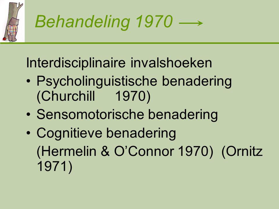 Behandeling 1970 Interdisciplinaire invalshoeken