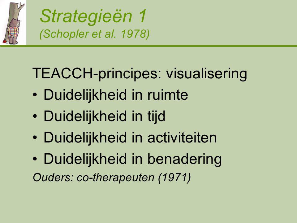 Strategieën 1 (Schopler et al. 1978)