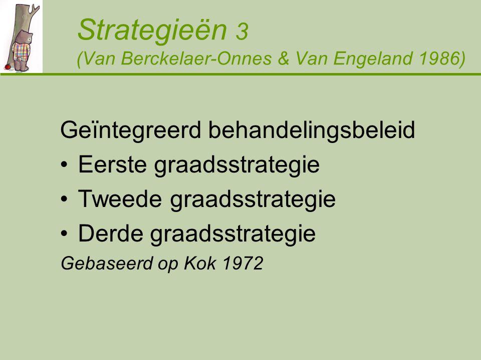 Strategieën 3 (Van Berckelaer-Onnes & Van Engeland 1986)