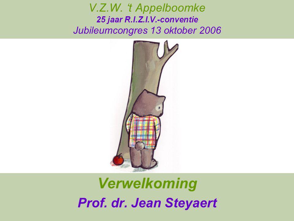 Verwelkoming Prof. dr. Jean Steyaert
