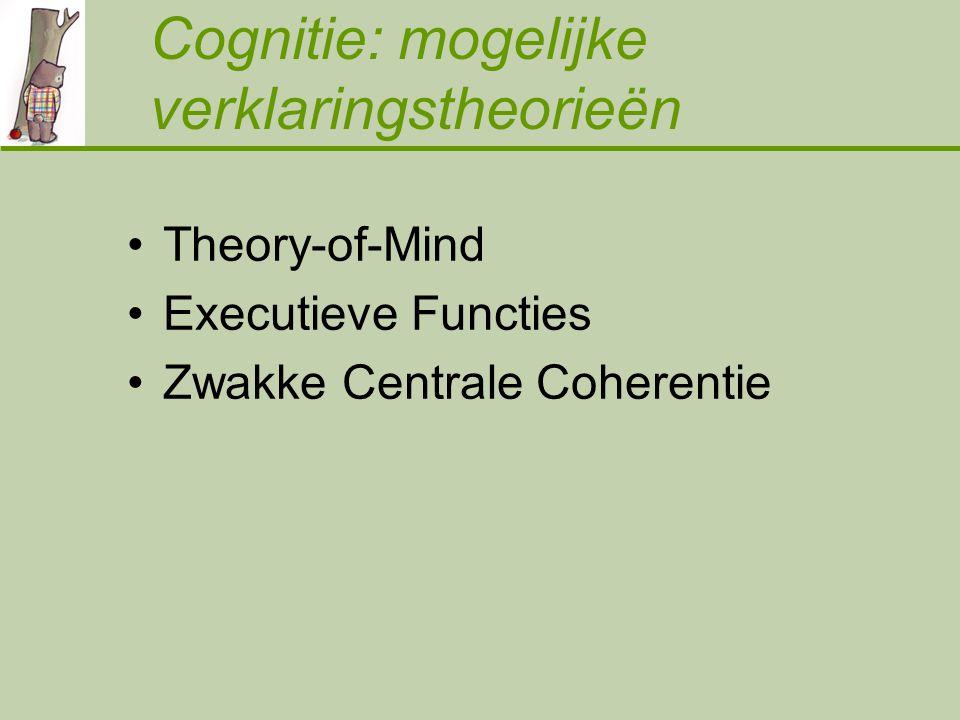 Cognitie: mogelijke verklaringstheorieën