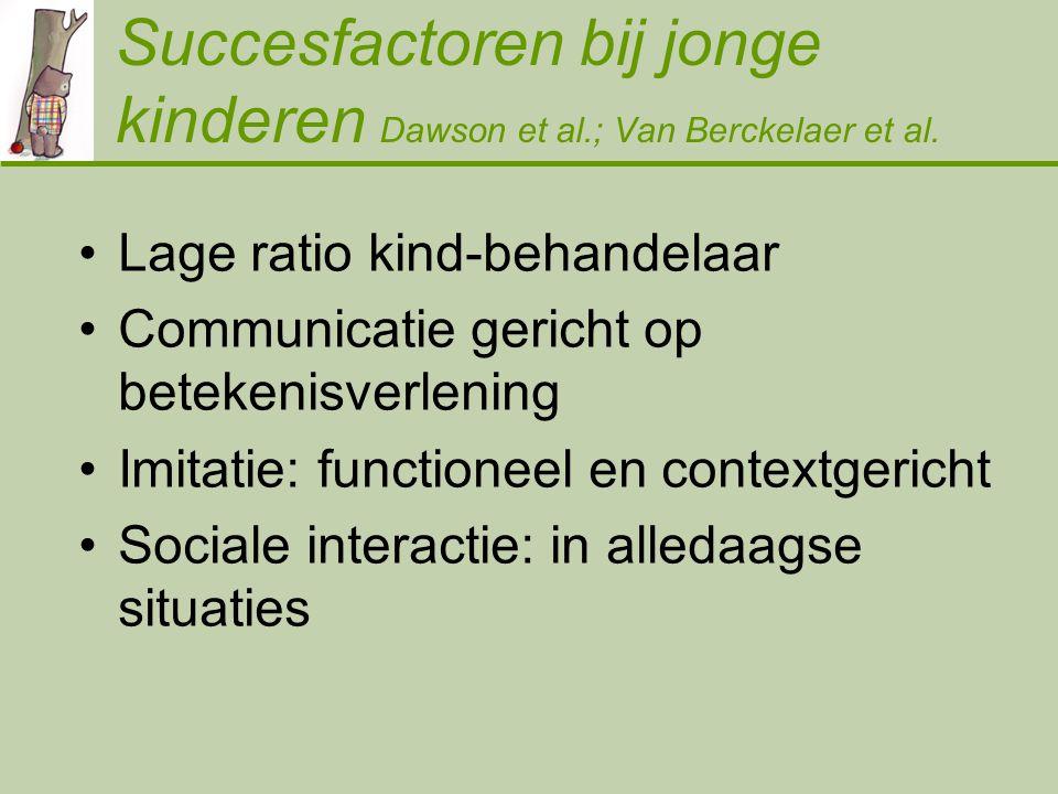 Succesfactoren bij jonge kinderen Dawson et al.; Van Berckelaer et al.
