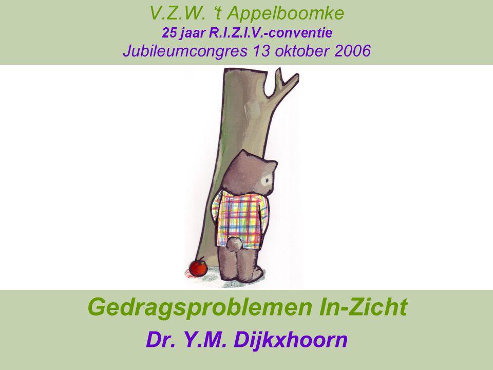 Gedragsproblemen In-Zicht Dr. Y.M. Dijkxhoorn