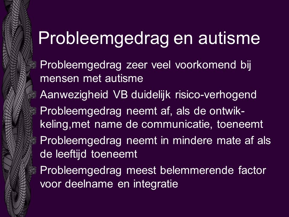 Probleemgedrag en autisme