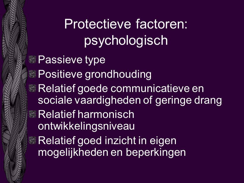 Protectieve factoren: psychologisch