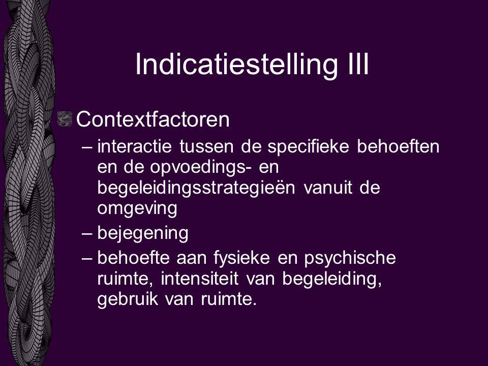 Indicatiestelling III