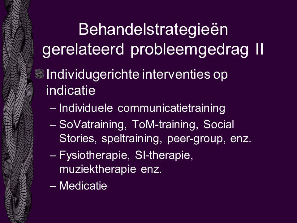 Behandelstrategieën gerelateerd probleemgedrag II