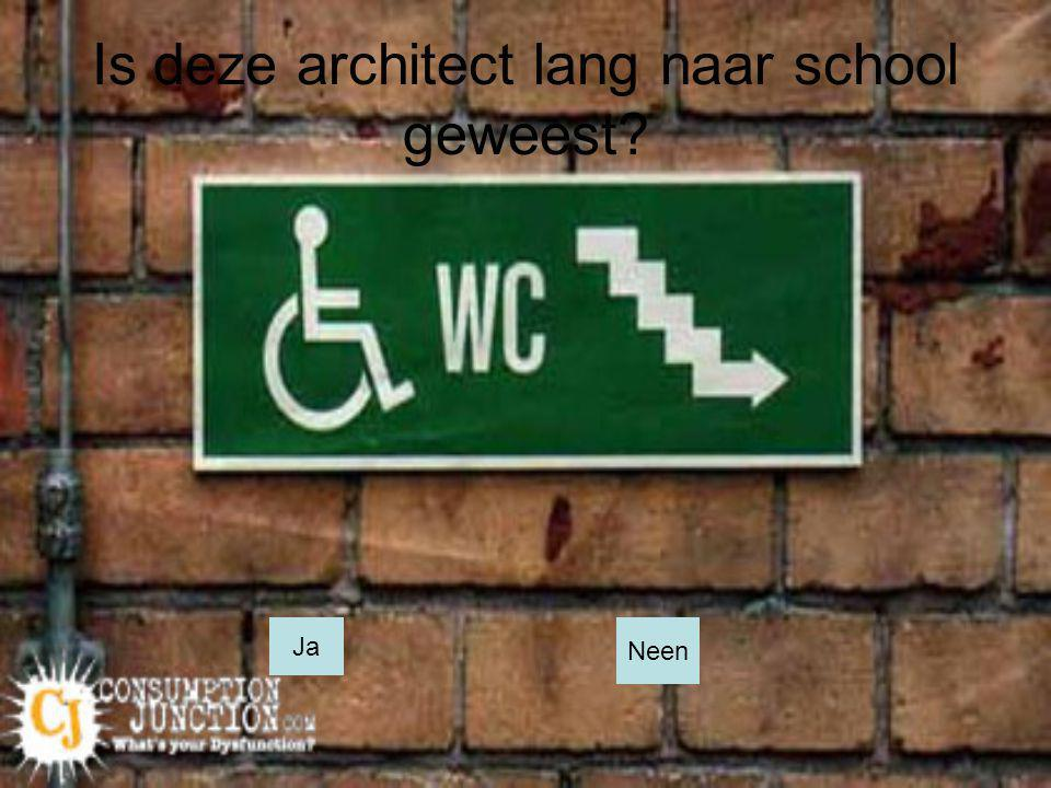 Is deze architect lang naar school geweest
