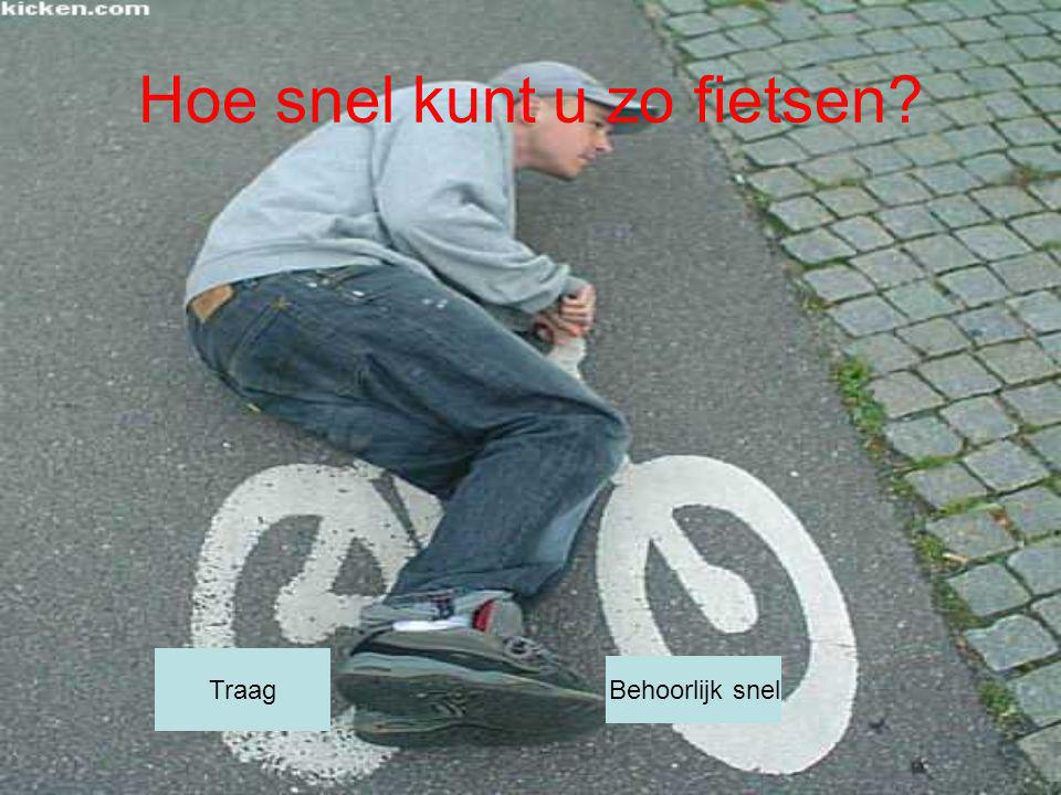 Hoe snel kunt u zo fietsen