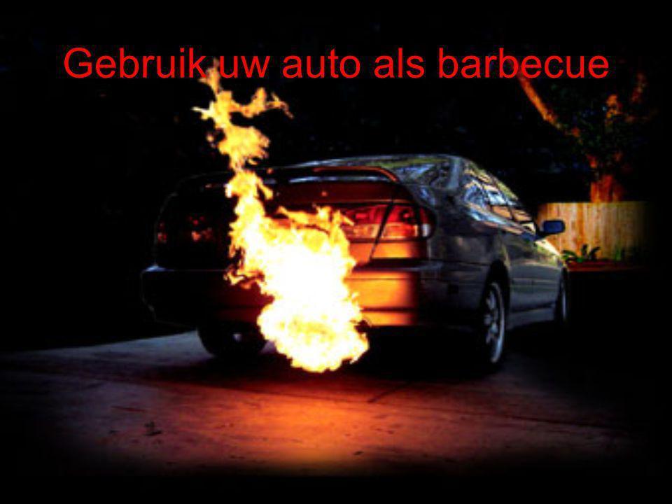 Gebruik uw auto als barbecue