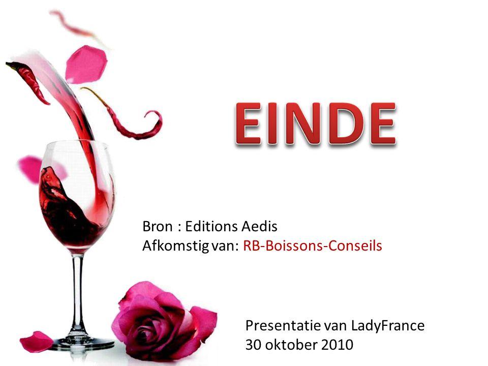 EINDE Bron : Editions Aedis Afkomstig van: RB-Boissons-Conseils