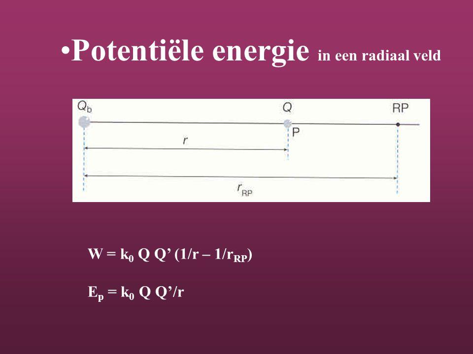 Potentiële energie in een radiaal veld