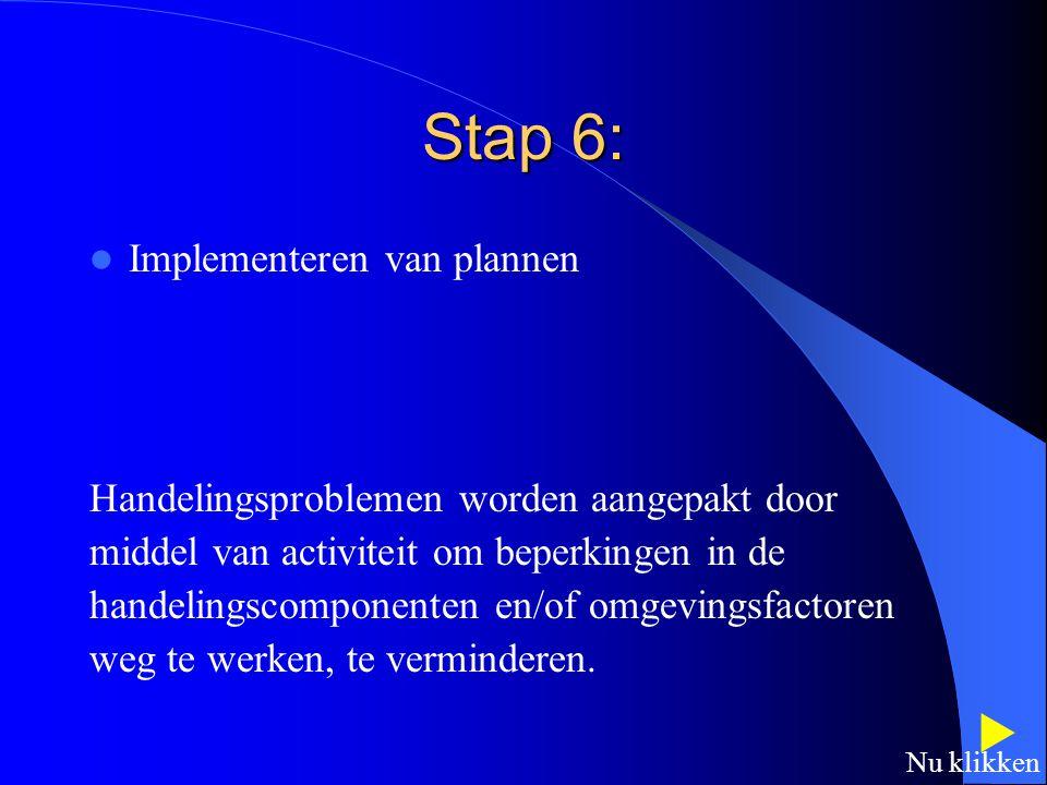 Stap 6:  Implementeren van plannen