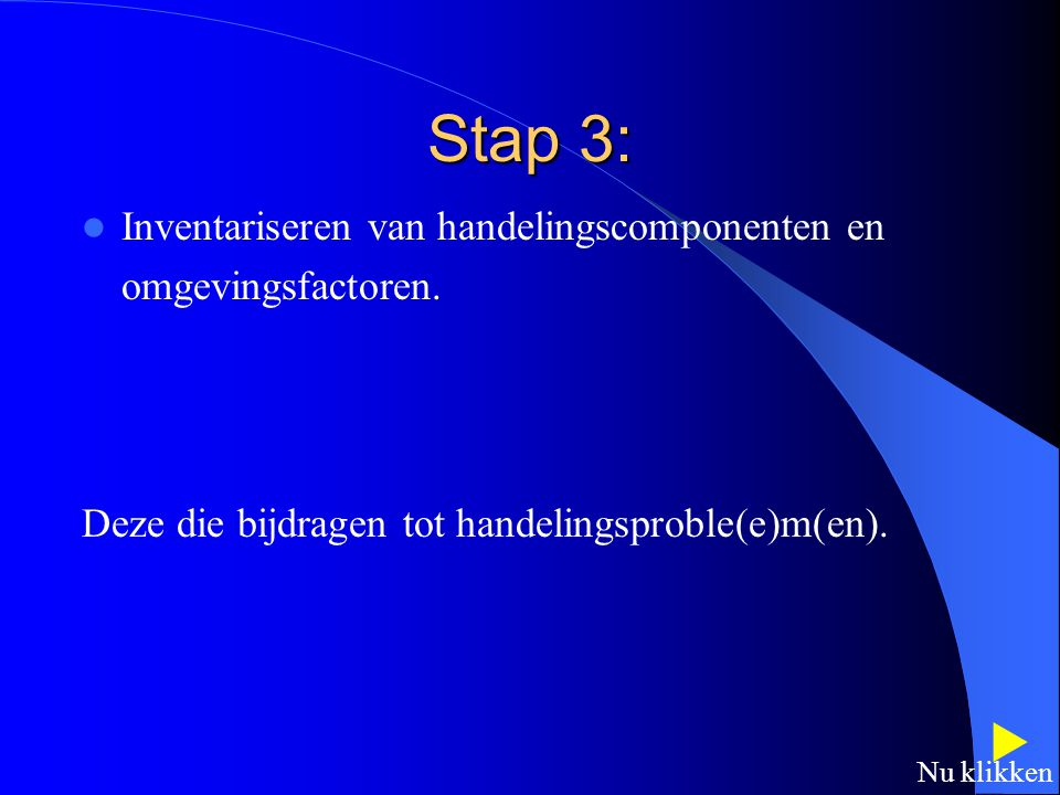 Stap 3:  Inventariseren van handelingscomponenten en
