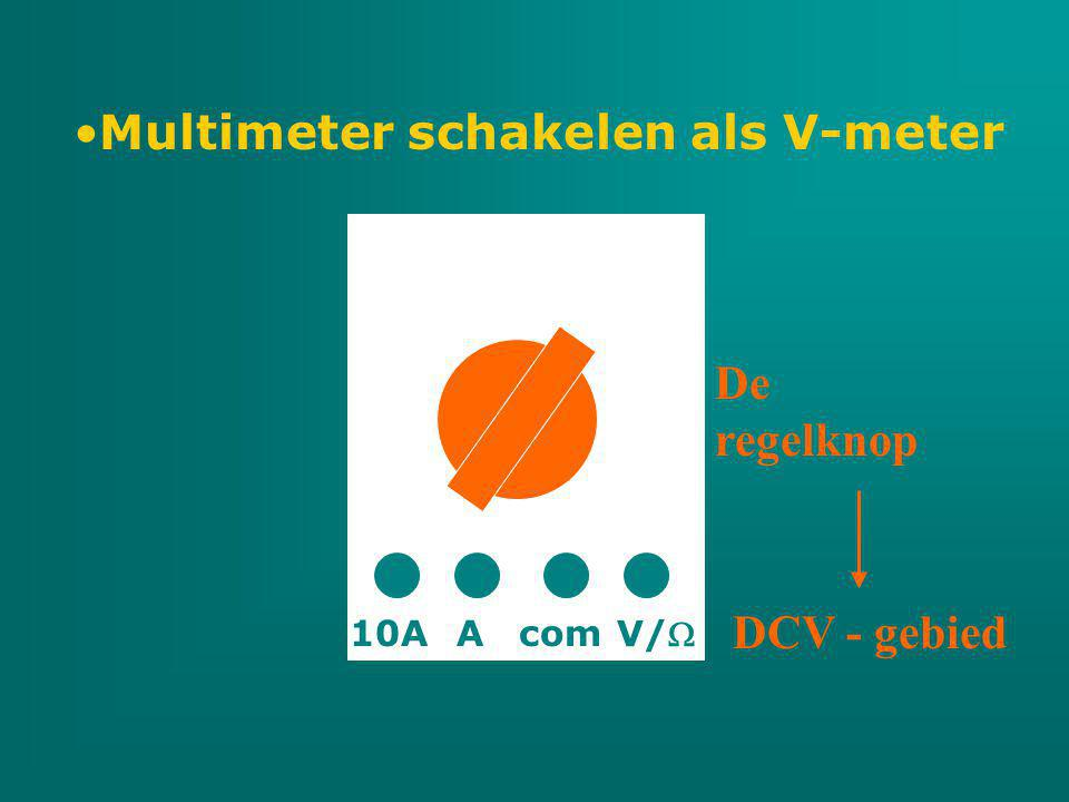 Multimeter schakelen als V-meter