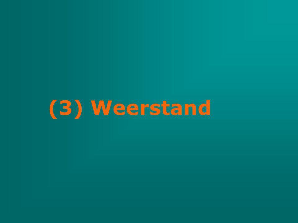 (3) Weerstand