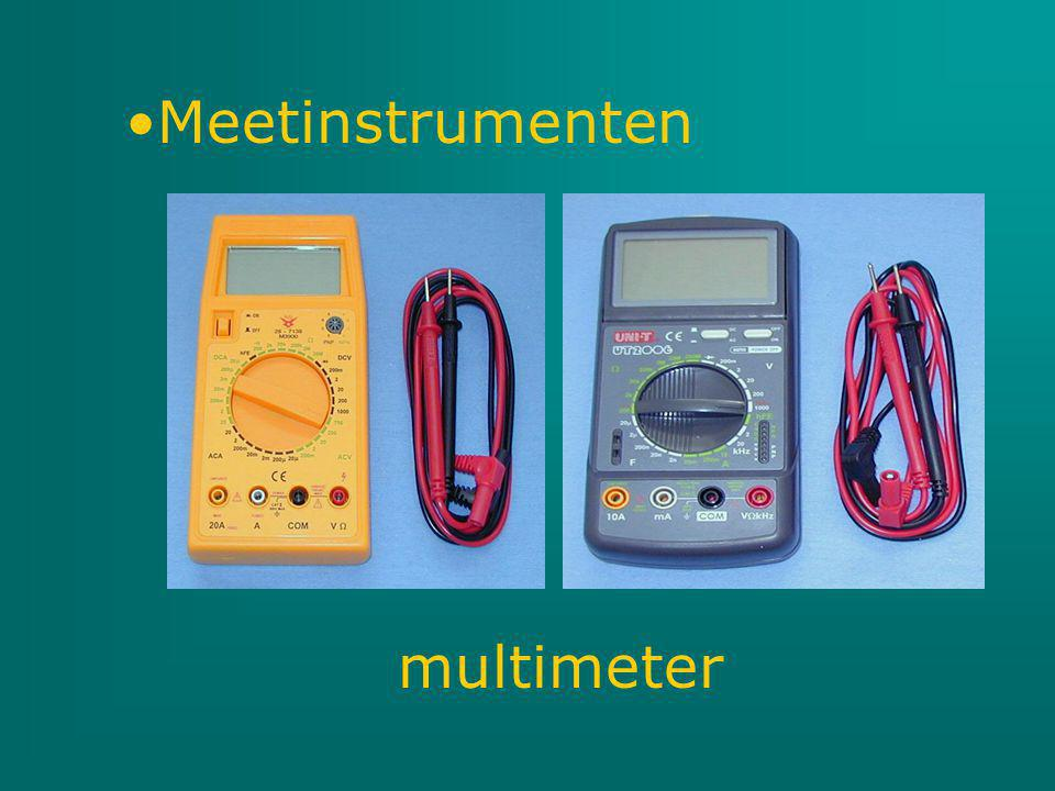 Meetinstrumenten multimeter