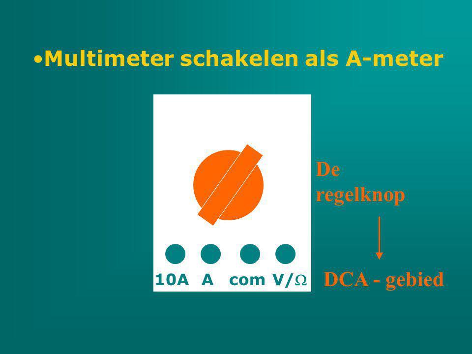Multimeter schakelen als A-meter