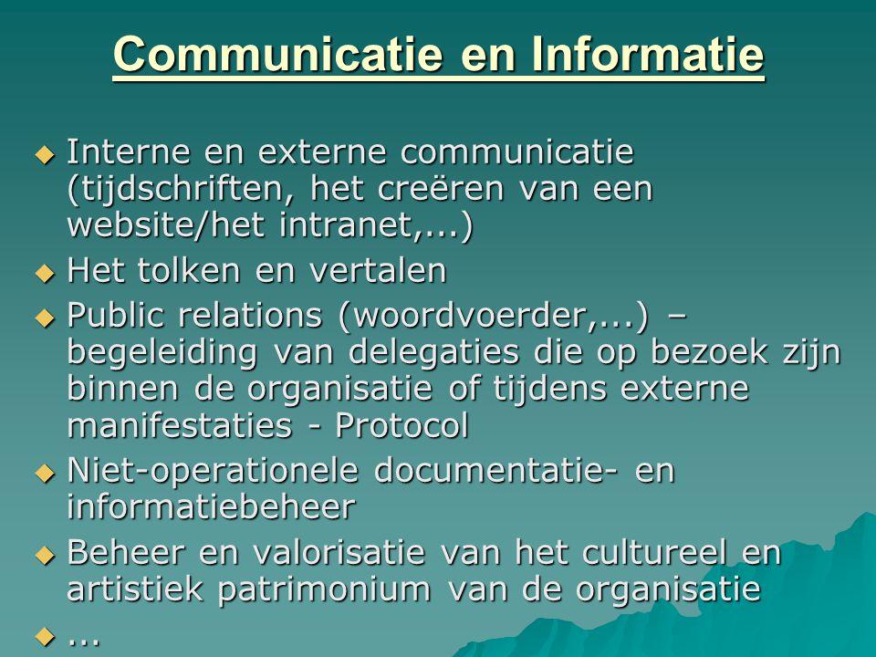 Communicatie en Informatie