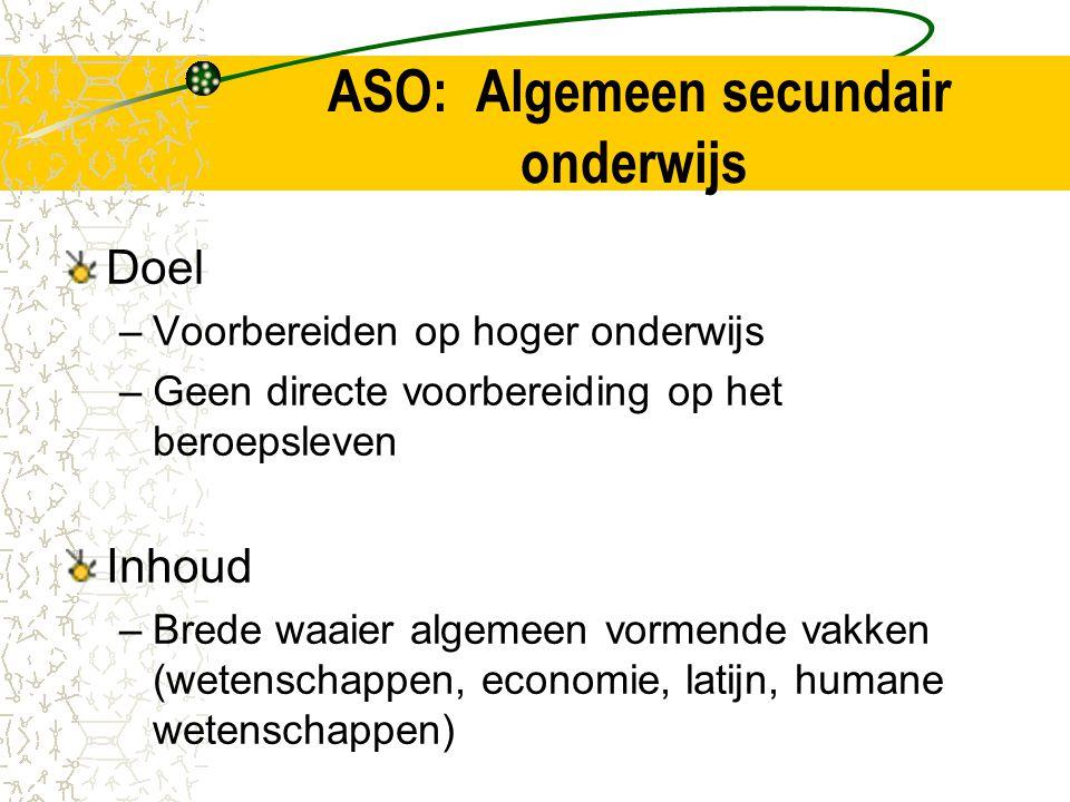 ASO: Algemeen secundair onderwijs