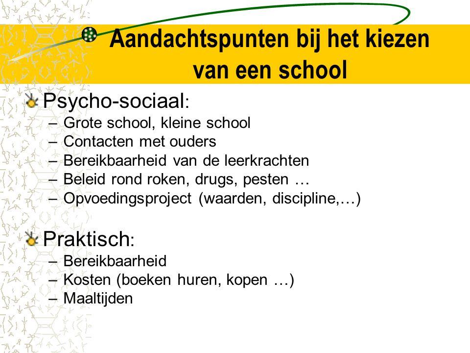 Aandachtspunten bij het kiezen van een school
