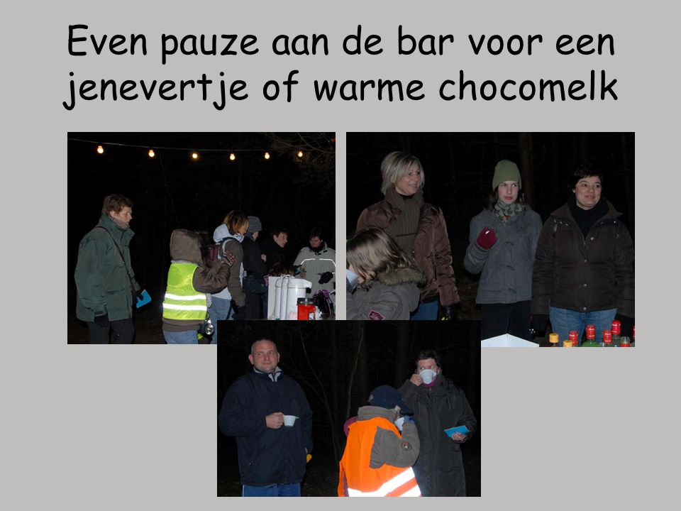 Even pauze aan de bar voor een jenevertje of warme chocomelk