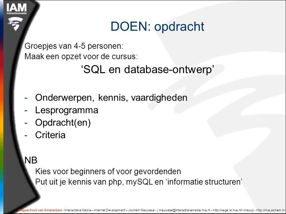 'SQL en database-ontwerp'