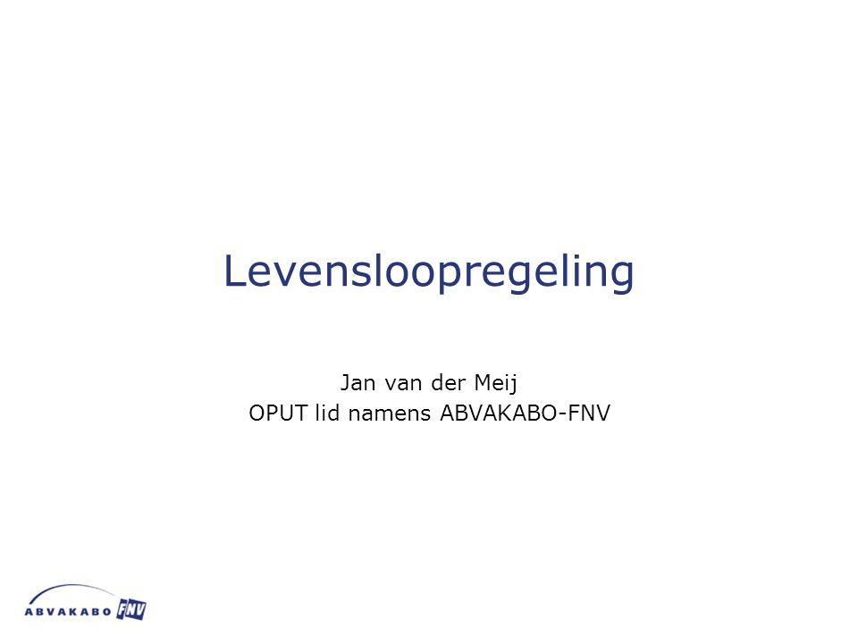 Jan van der Meij OPUT lid namens ABVAKABO-FNV