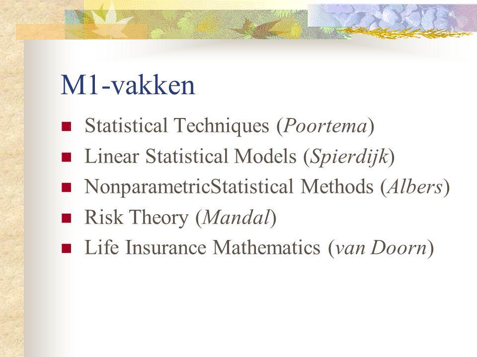 M1-vakken Statistical Techniques (Poortema)