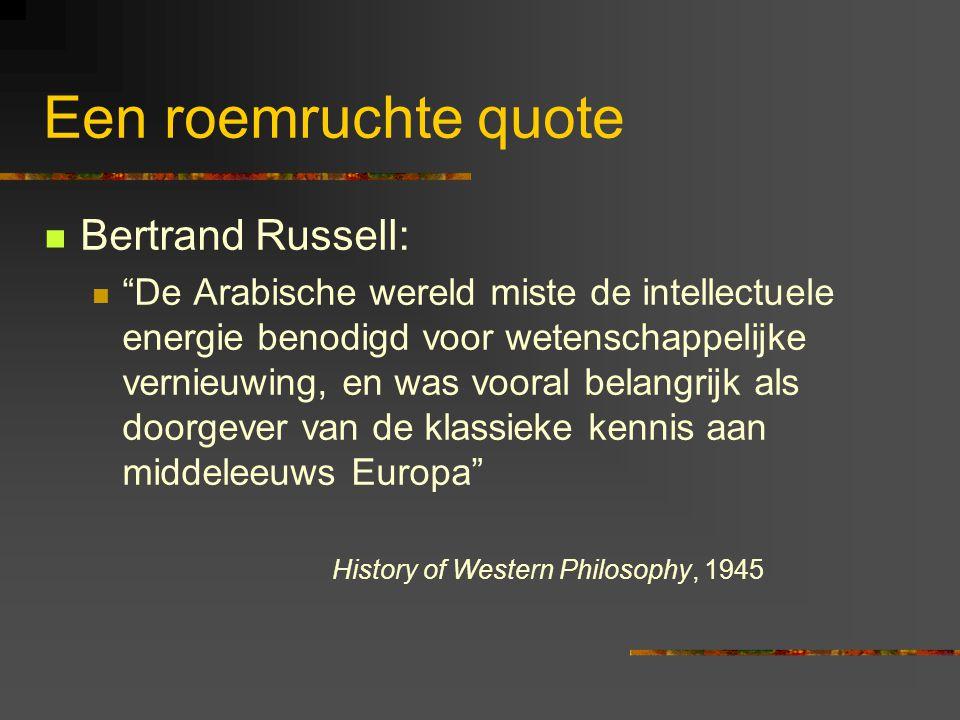 Een roemruchte quote Bertrand Russell: