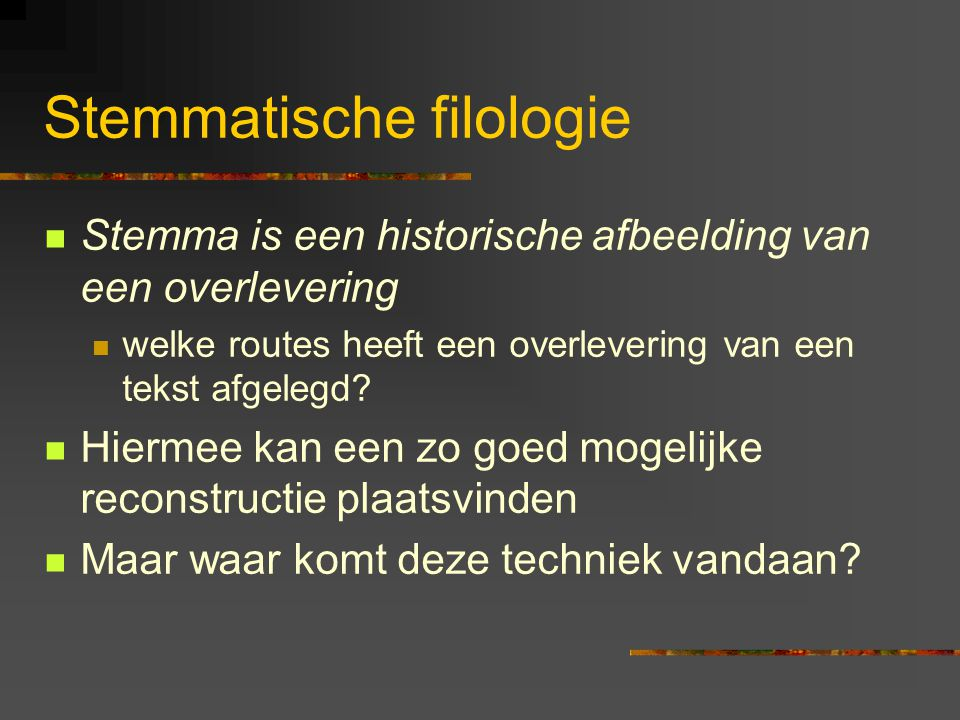Stemmatische filologie