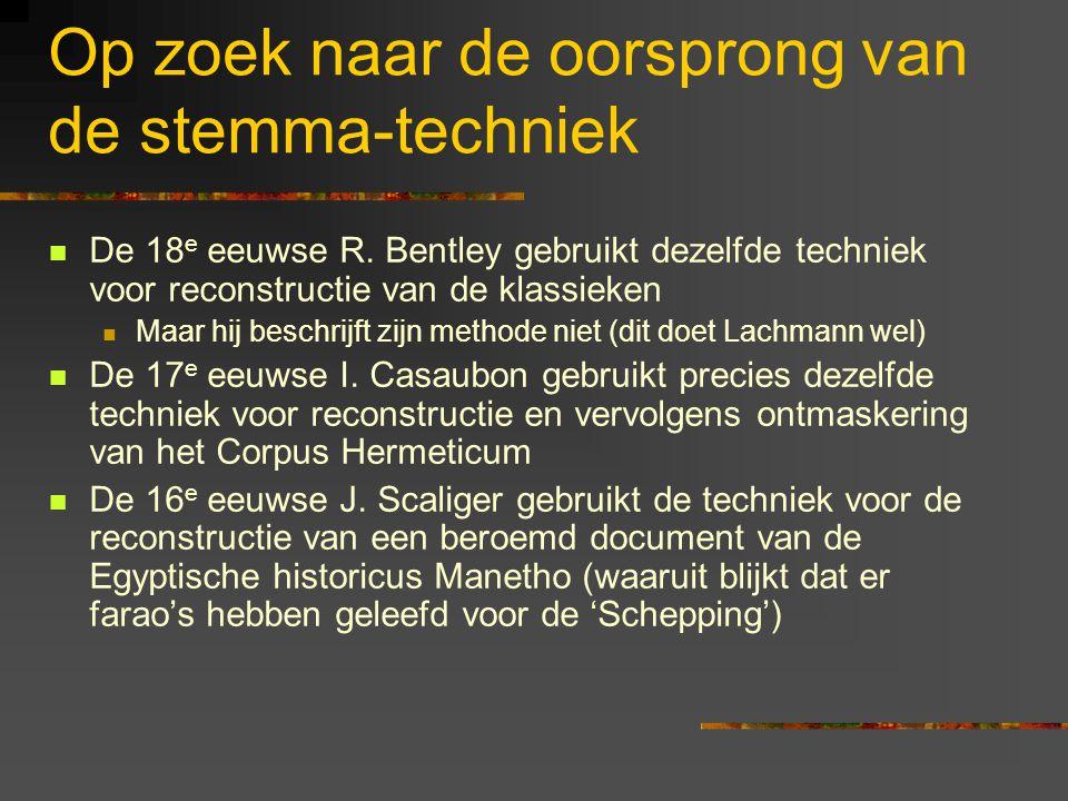 Op zoek naar de oorsprong van de stemma-techniek