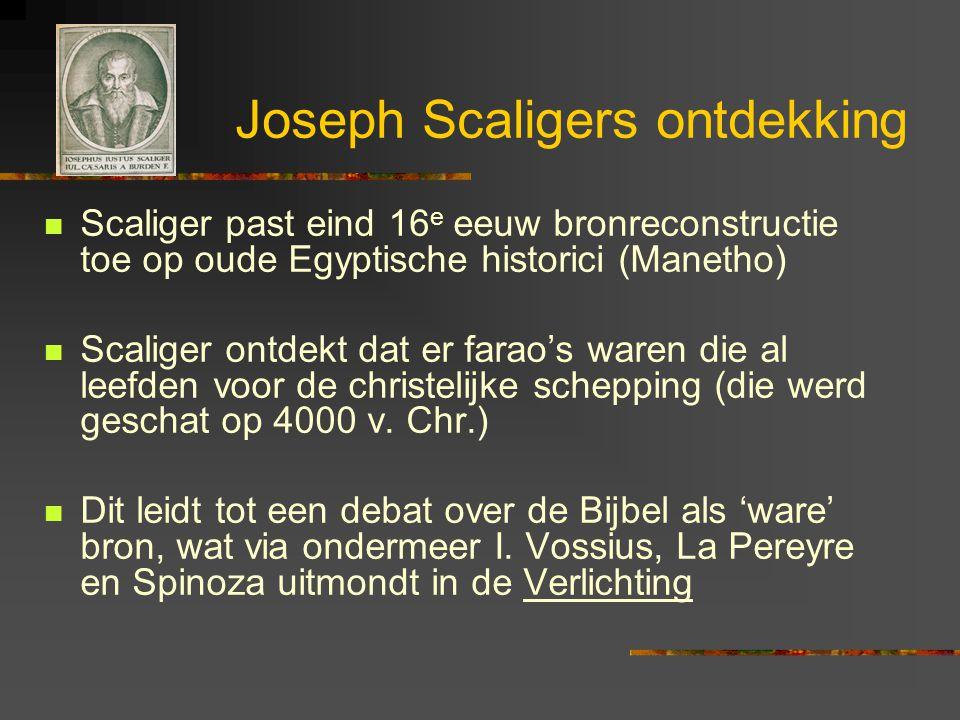 Joseph Scaligers ontdekking