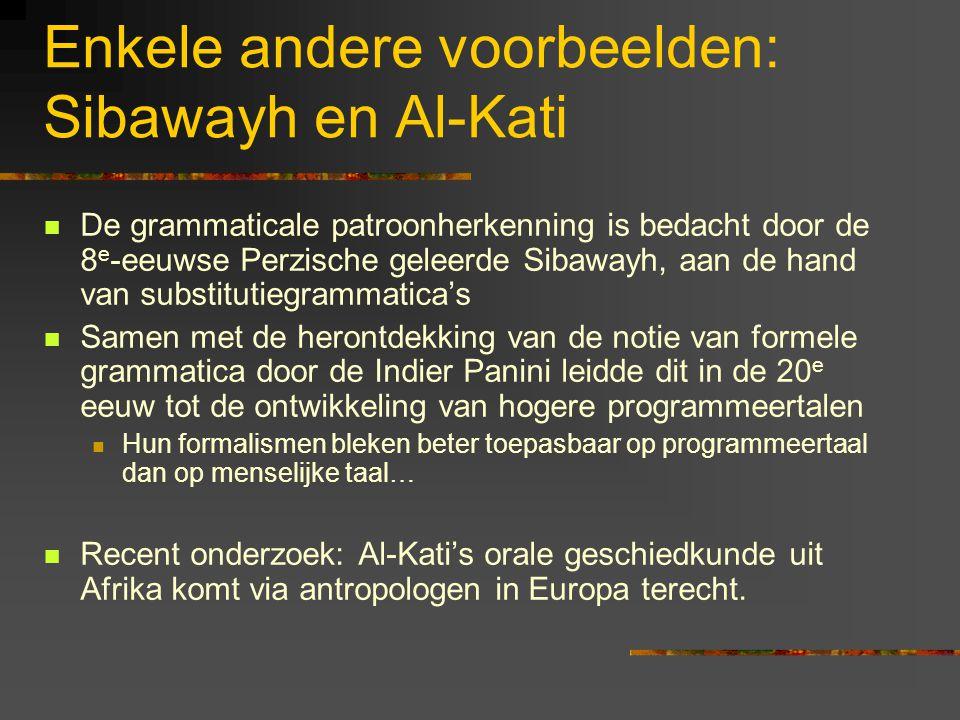 Enkele andere voorbeelden: Sibawayh en Al-Kati