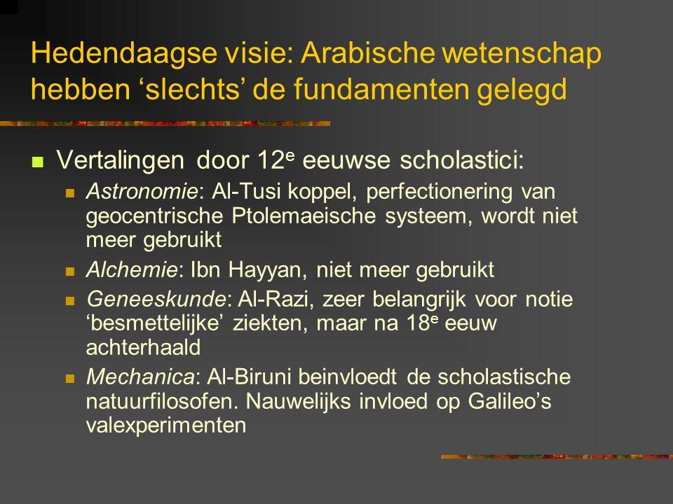 Hedendaagse visie: Arabische wetenschap hebben 'slechts' de fundamenten gelegd