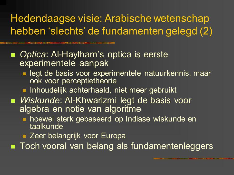 Hedendaagse visie: Arabische wetenschap hebben 'slechts' de fundamenten gelegd (2)
