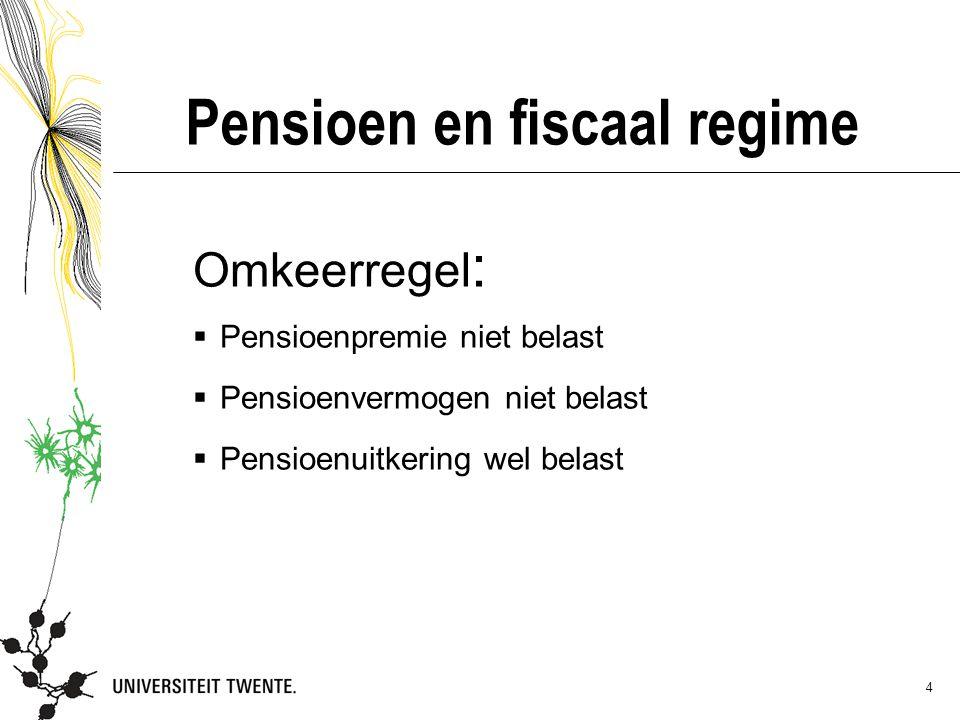 Pensioen en fiscaal regime