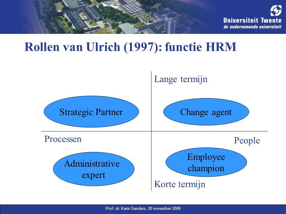 Rollen van Ulrich (1997): functie HRM