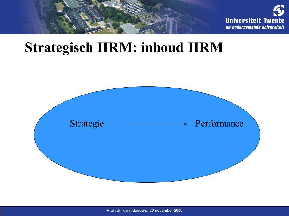 Strategisch HRM: inhoud HRM