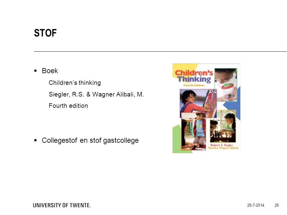 Stof Boek Children's thinking Collegestof en stof gastcollege