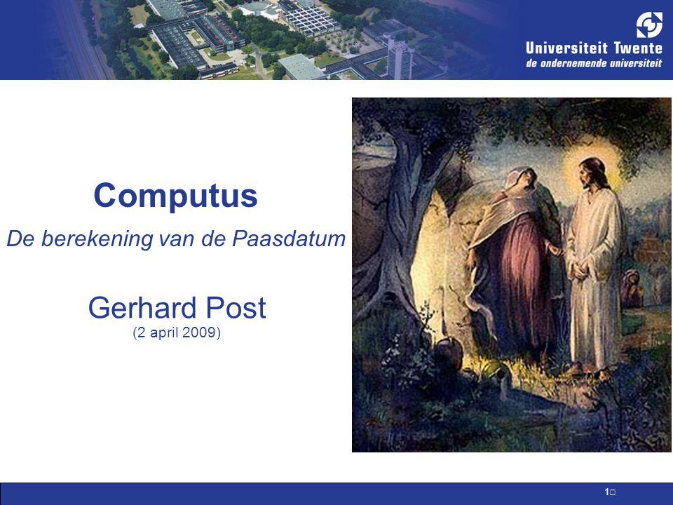 Computus De berekening van de Paasdatum