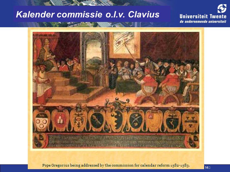 Kalender commissie o.l.v. Clavius