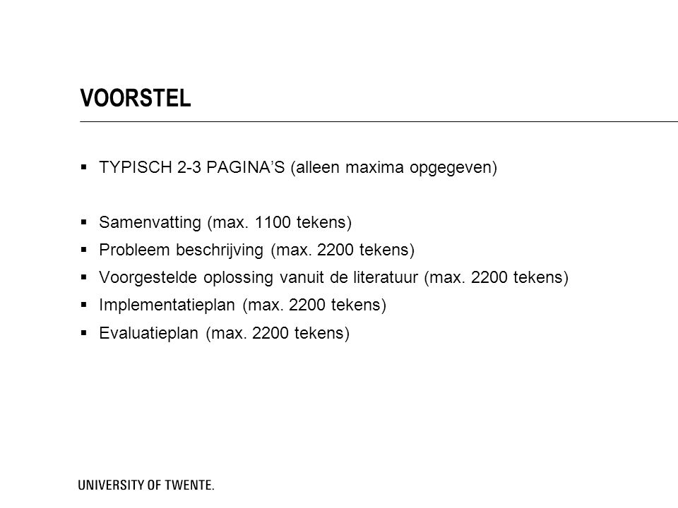 VOORSTEL TYPISCH 2-3 PAGINA'S (alleen maxima opgegeven)