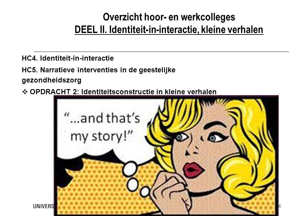 Overzicht hoor- en werkcolleges DEEL II