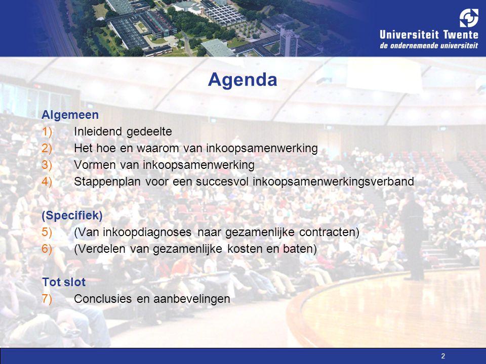 Agenda Algemeen Inleidend gedeelte